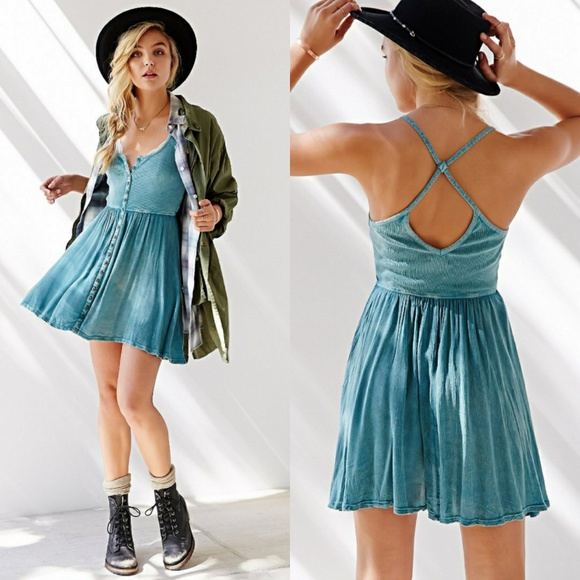 62224760 Urban Outfitters Dresses | Ecot For Uo Moonbeam Button Down Tank ...